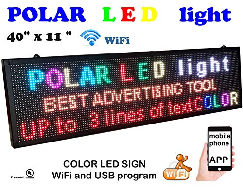 WiFi P6 high Resolution LED Full RGB Color Sign 40