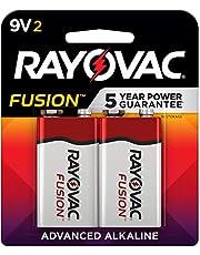 RAYOVAC RVCA16042TFUS, Fusion Long-Lasting Alkaline Batteries (9V, 2-Pack)