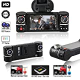 Indigi NEW F6+ Dash camera for Cars DVR Camera [ HD @ 30fps + 2.7-inch TFT + Dual Lens ( Front and Rear ) ]