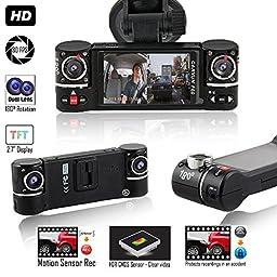 Indigi NEW F600 Dashboard DVR Camera [ HD @ 30fps + 2.7\