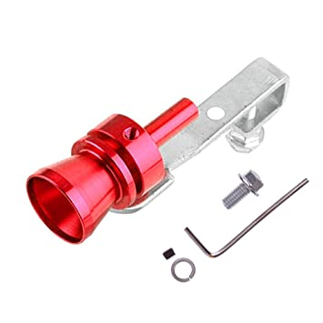YOUNGFLY Universal Turbo Sound Whistle Exhaust Pipe BOV Aluminum Car Motorcycle Accessories