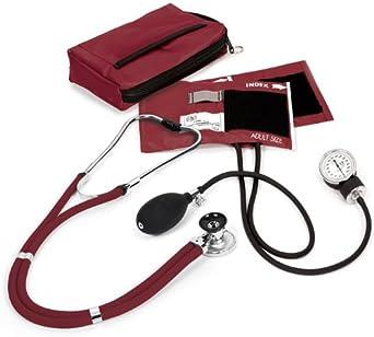 NCD Medical/Prestige Medical A2-BUR - Juego de tensiómetro de brazo y estetoscopio (funda incluida)