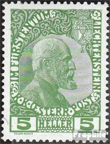 Prophila Collection Liechtenstein 1y gewöhnliches Papier 1912 Freimarke (Briefmarken für Sammler)