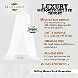 Posh Earth Hanging Mosquito Net for Beds - Bug & Insect Screen Canopy for Camping, Glamping, Baby & Boho Decor - Bonus Travel Gift Bag + Hanging Kit