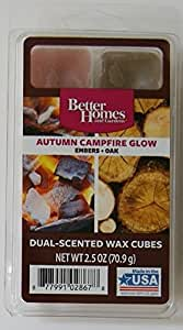 1 x better homes and gardens autumn campfire glow dual scent wax cubes home kitchen for Better homes and gardens wax melts