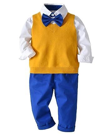 Conjunto de 4 Piezas para Bebé Niños Camisa de Manga Larga + ...