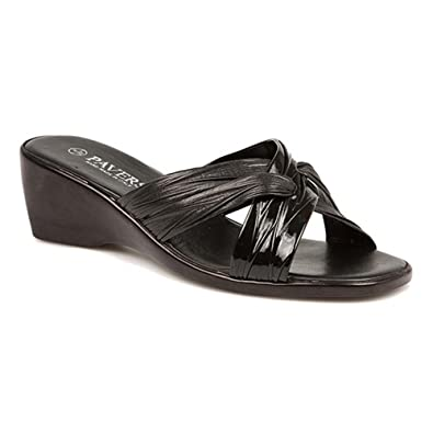 476840e5841 Pavers Mid-Heel Wedge Mule with Crossover Straps 123 082  Amazon.co ...