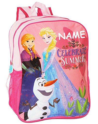"""großer Rucksack - """" Frozen - die Eiskönigin / völlig unverfroren """" - incl. Namen - Tasche für Kinder - wasserfest & beschichtet - Kinderrucksack - rosa & pink / groß Kind - Mädchen - Prinzessin Anna /"""