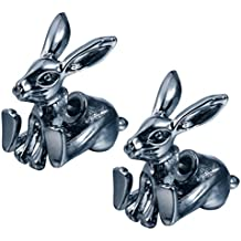 Trendy Personality Unisex Titanium Steel Animal Stud Earrings Punk Front and Back Ear Piercing