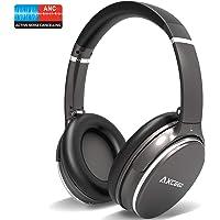 AXCEED Bluetooth Kopfhörer Kabellose, Active Noise Cancelling Over Ear Headphones Wireless Geräuschreduzierender Kopfhörer mit Mikrofon, HiFi Stereo Bass mit USB Kabel - MEHRWEG
