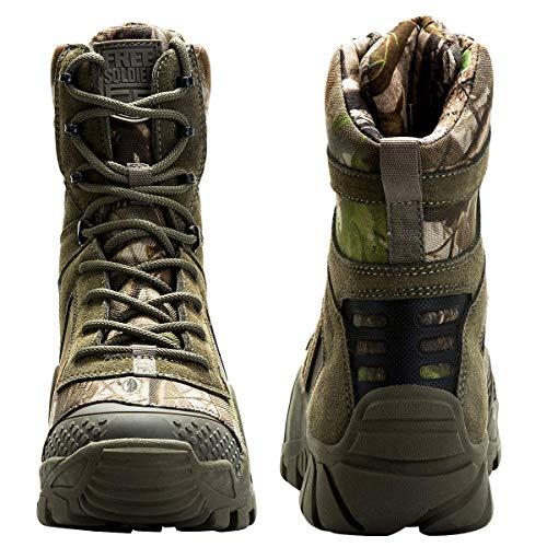 FREE SOLDIER Bottes de Chasse pour Hommes Bottes Militaires de Haut-Niveau Bottes Tactiques de Combat Chaussures à… 3
