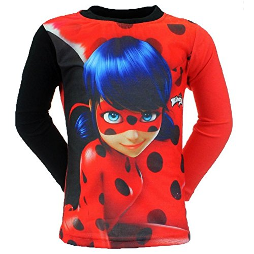 Miraculous Girls' Character Long-Sleeved Top Red Red 5 Years - Red - 4 Years:  Amazon.co.uk: Clothing