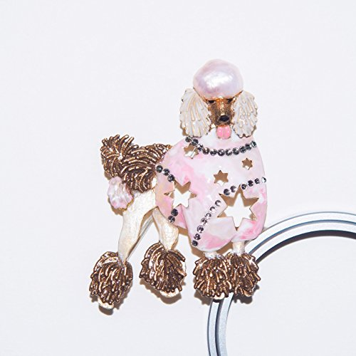Cute poodle dog with the baroque pearls Brooch/Pendant (Make by - Poodle Pearl