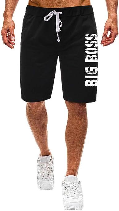 DIOMOR Mens Athletic Outdoor 9 Elastic Waist Shorts Classic Fashion Drawstring Beach Trunks Comfy Knee Length Pants