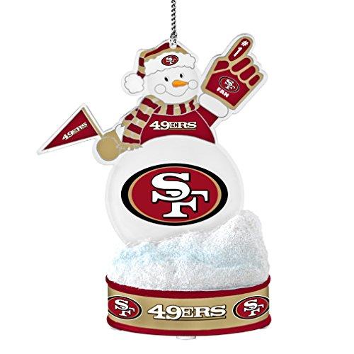 NFL San Francisco 49ers LED Snowman Ornament San Francisco 49ers Ornaments