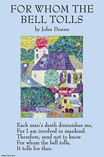 ArtParisienne for Whom The Bell Tolls John Donne 12x18 Poster Semi-Gloss Heavy Stock Paper Print