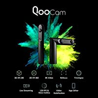 KanDao QooCam 360 Camera 360 Degree 3D VR Camera - Triple Lens, 4K HD Panoramic Video, 120 FPS Slow-Motion, Video Stabilization, Refocus Technology from KanDao