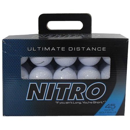 Nitro Reactive Titanium Core Ultimate Distance with Ultimate Stopping Ability White Golf Ball, 45 (Ultimate Distance Ball)