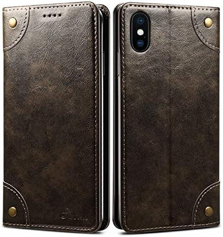 iPhone SINIANL Leather Magnetic Closure