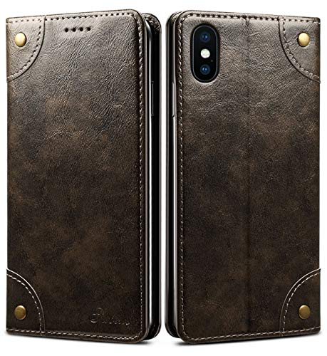 iPhone 8 Case, iPhone 7 Case, SINIANL Leather Wallet Folio Case Book Design Flip Cover with Stand and ID Credit Card Slot Magnetic Closure for iPhone 8 / 7 - Iphone Phones Style