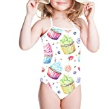 Sannovo Baby Girl Toddler Kid Ice Cream Skirt Bikini Swimsuit Swimwear