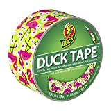 Duck Brand 283041 Printed Duct Tape, Flamingo, 1.88 Inches x 10 Yards, Single Roll