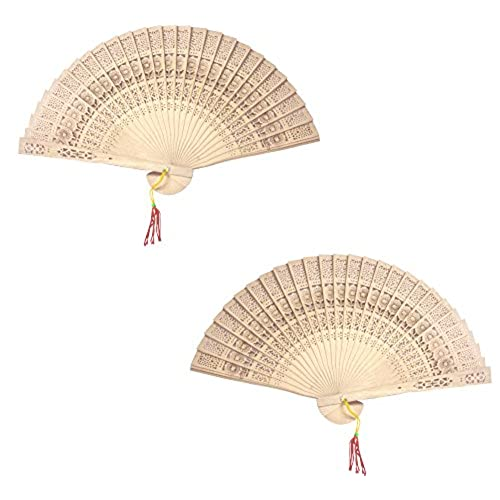 Chinese wedding favors amazon chinese sandalwood scented wooden hand held folding fans for wedding decoration birthdays home gifts 24 pack junglespirit Images