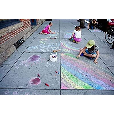 Pack Of 6/15 Chalk Markers Jumbo Sidewalk Chalk For Kids Children Toddlers Outdoor Side Walk Outside Driveway Easter Pavements Sticks Assorted Colours Art Floor Chalks (15PCS): Office Products
