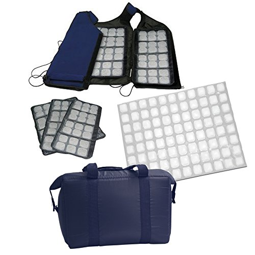 Personal Cooling Kit - Ice Vest with Additional Ice Sheets and Travel Cooler (velcro) ()