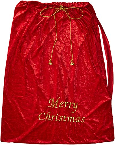 Fun World Costumes Santa Sack, Red/Gold,