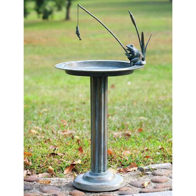 SPI Home 33302 Fishing Frog Sundial/Birdbath by SPI Home
