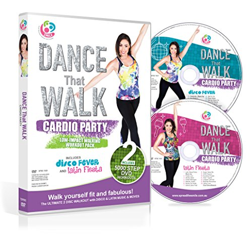 DANCE That WALK - CARDIO PARTY - Low Impact Walking Workout Pack with Two Easy 5000 Step DVDs (NTSC) (Best Dynamic Warm Up Exercises)