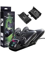 slopehill Chargeur Manette Xbox One, Chargeur Contrôleur Xbox One/One S/One X Elite Adaptateur de Chargeur sans Fil Chargeur Station de Charge avec 2 Batteries Manette Rechargeables de 1200mAh