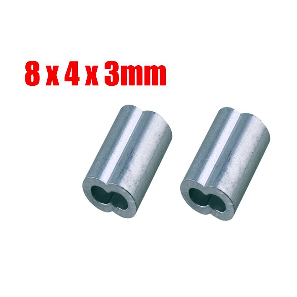 ThreeBulls 100 Pcs 3/64-inch Wire Rope Aluminum Sleeves Clip ...