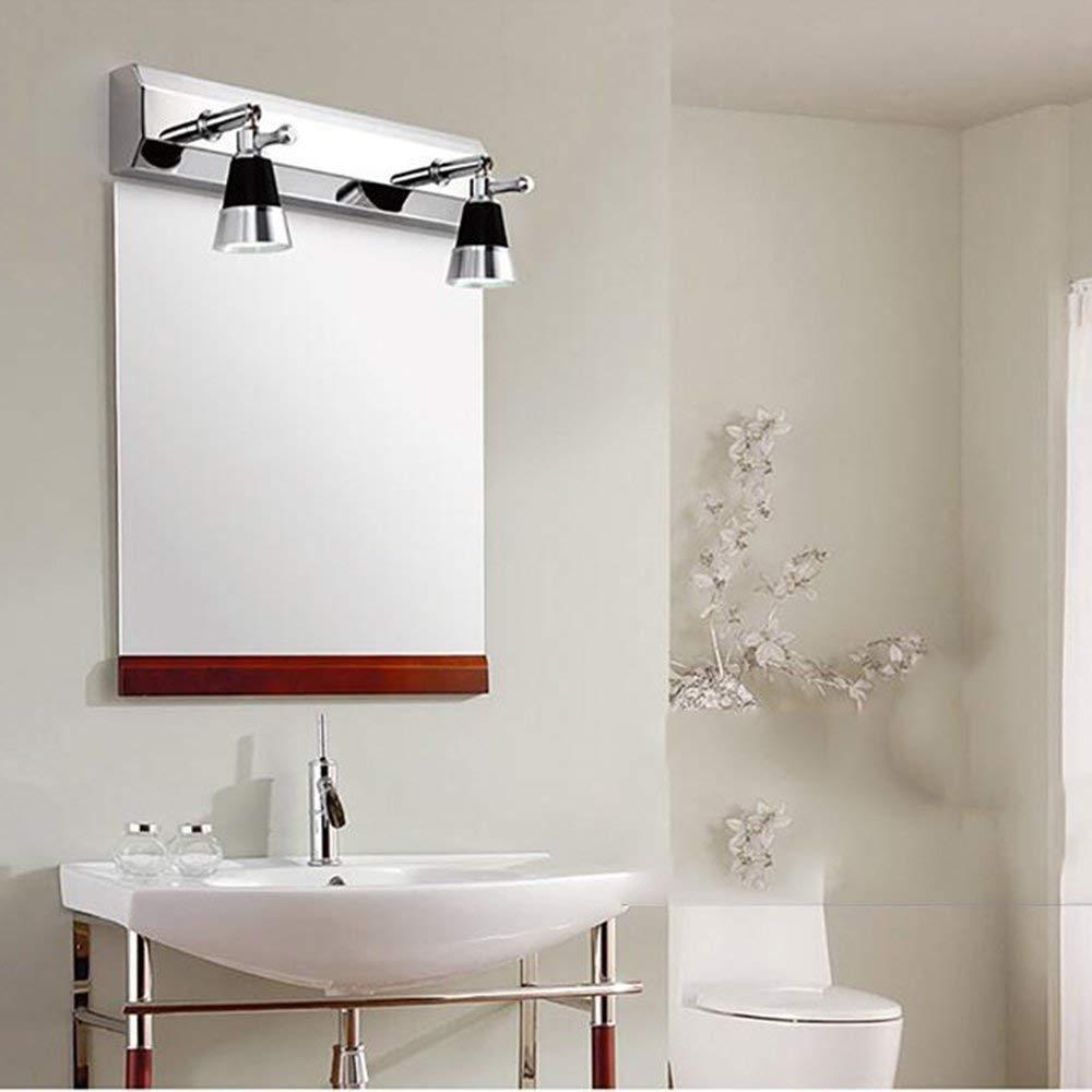Mirror Lamps Home Home Home Doppelkopf LED DREI Hauptprojektorspiegel minimalistisch modern, die Edelstahl-Spiegelschrankbeleuchtung in Badezimmer Grün Wandlampe - - Make-up-Spiegelprojektor. 0de81d