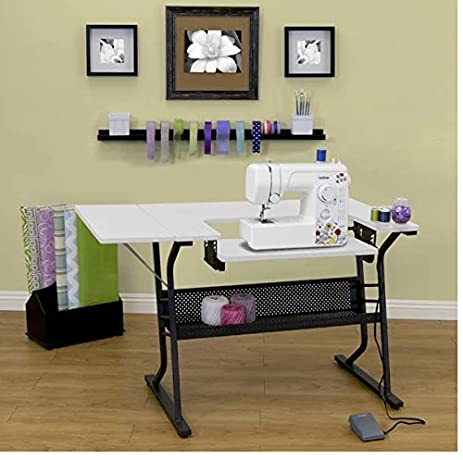 Sewing Machine Table Craft Computer Desk Storage Shelves Studio Designs