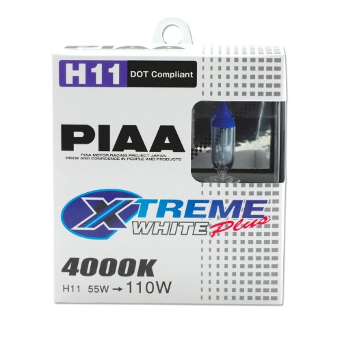 PIAA 15211 H11 Xtreme White Plus High Performance Halogen Bulb, (Pack of 2) (Bulbs White Plus Headlight)