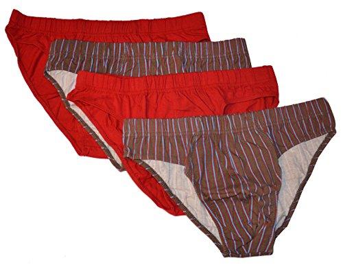 4er-Pack Herrenslips Herren-Slip Set Männer Unterwäsche in 2 Farben, Größe 5, 6, 7, 8, 9, 10