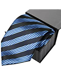 KissTies Men's Necktie Check Plaid Extra Long Tie With Gift Box Wrap (63'' XL)
