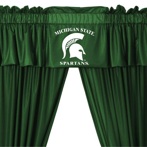 Michigan State Spartans COMBO Shower Curtain & Valance/Drape Set (Drapes Size 82 X 63) - Decorate Your Shower and Bathroom Window & SAVE ON BUNDLING!