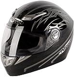 Nitro Aikido Full Face Helmet (Black/Gunmetal/White, Large)
