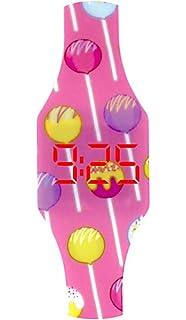 Reloj LED Digital niña chica, infantil y joven, de pulsera, correa de suave