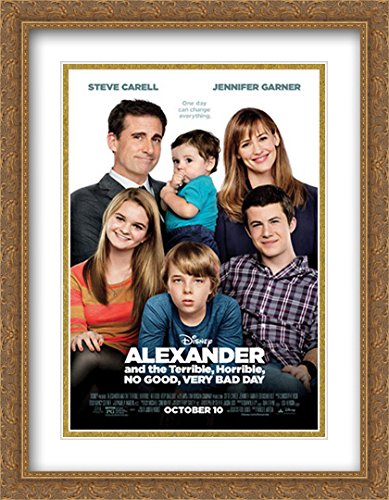 Alexander and The Terrible, Horrible, No Good, Very Bad Day 28x36 Double Matted Large Large Gold Ornate Framed Movie Poster Art Print