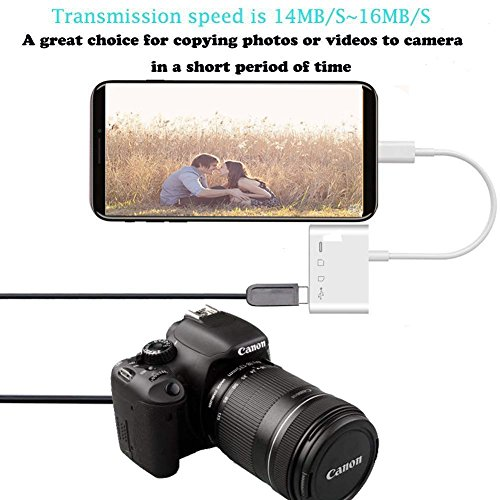 Lightning to SD FT Card Reader - 4 in 1 Lightning to USB Camera Adapter Kit SD TF Card Reader, iPhone to USB OTG Adapter Cable for iPhone iPad, Plug and Play by vlvoody (Image #3)