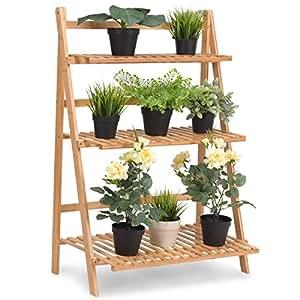 Amazon Com Giantex Plant Flower Stand Rack Shelf 3 Tier