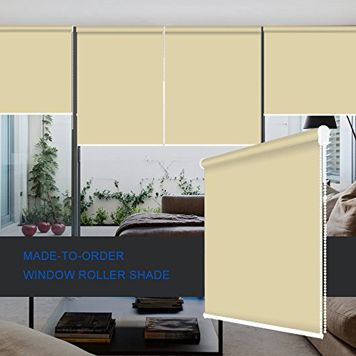 ZY Blinds Blackout Roller Shades Custom Made Any Size from 20-78inch Wide UV Protection Enery Saving Block 100% Light Window Shades Blinds for Home, Hotel, Club, Restaurant 53