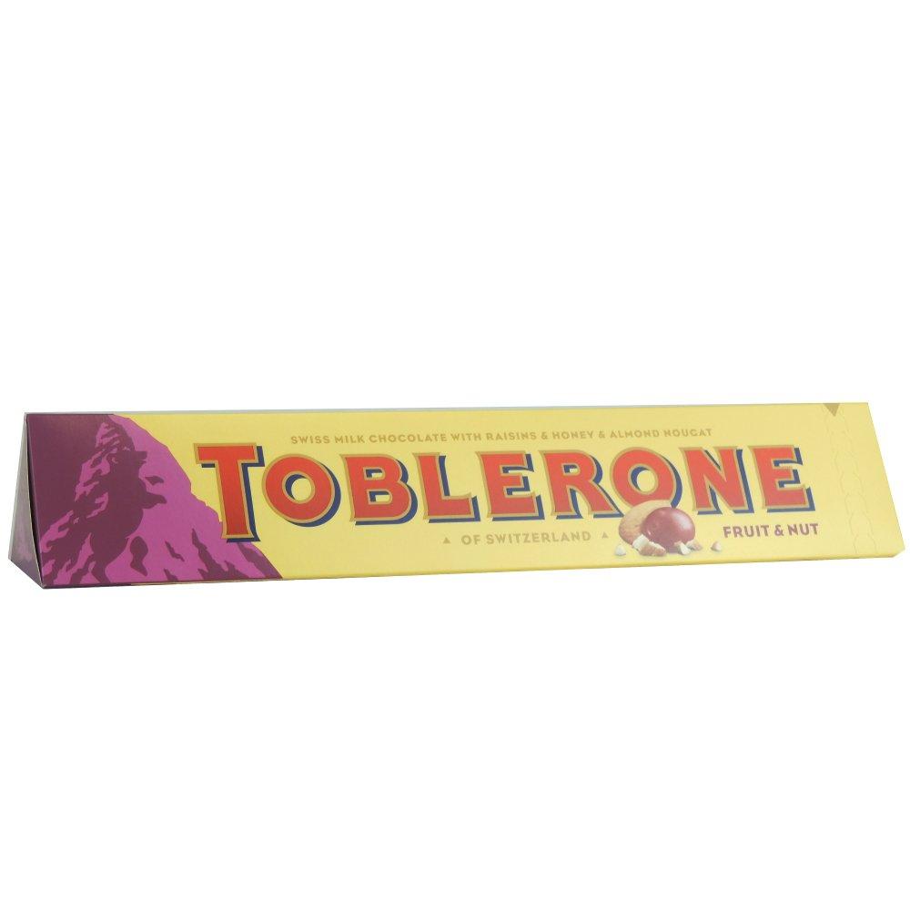 Toblerone Fruit and Nut Chocolate Large Bar, 400g: Amazon.co.uk ...