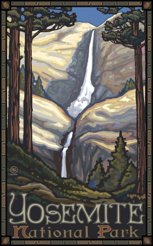 "Northwest Art Mall 11"" x 17"" Poster Yosemite Falls by Paul A. Lanquist"