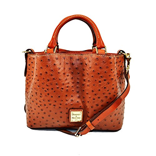 Bourke Ostrich - Dooney & Bourke Ostrich Mini Barlow Top Handle Bag