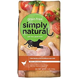 Simply Natural 1 Count Grain Free Chicken and Vegetable Dry Dog Food, 3.5 lb